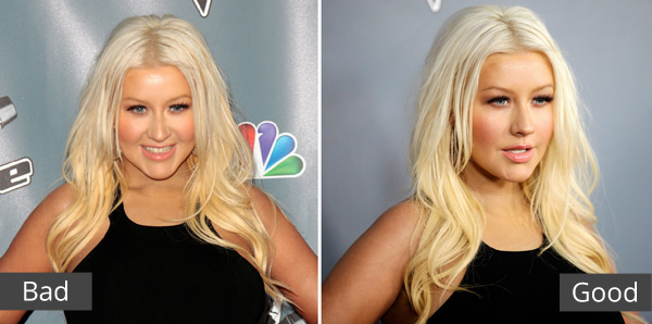 Christina Aguilera photographed at different angles