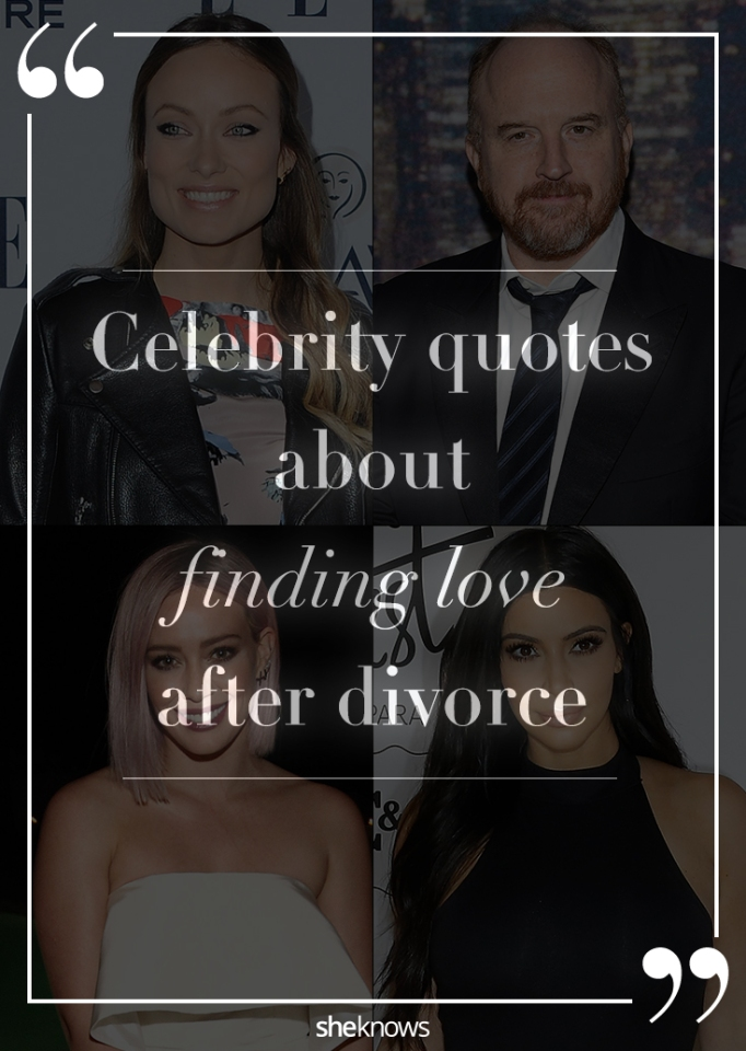Celebrity quotes about finding love after divorce Pinterest image