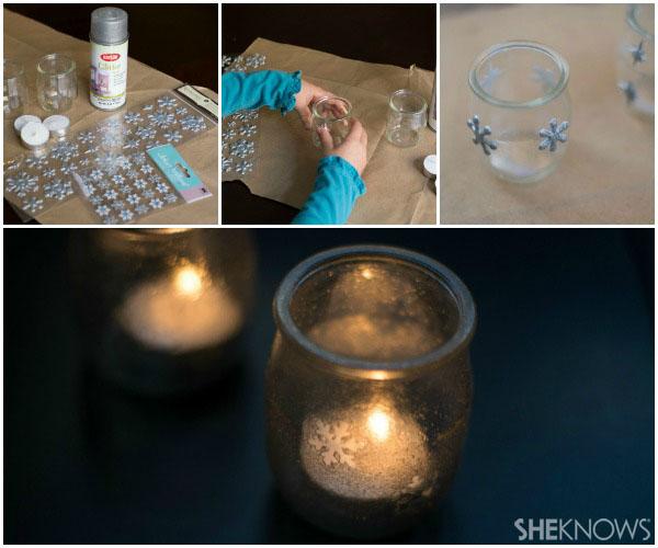 Snowflake luminaries