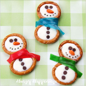 Snowman pretzel rings | Sheknows.com