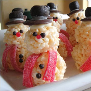 Snowman rice krispy treats | Sheknows.com