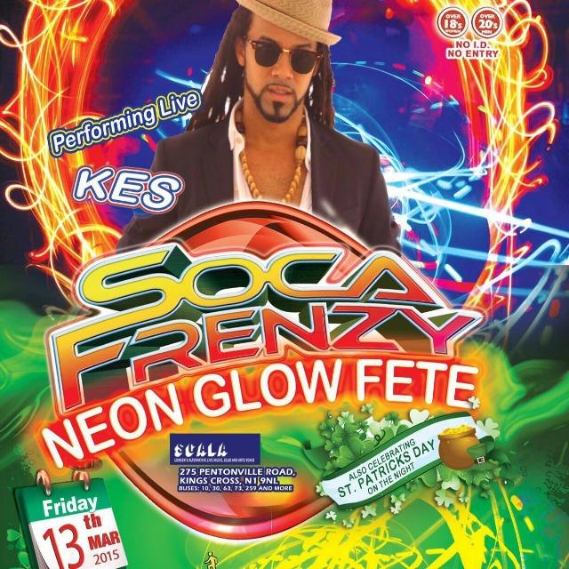 Soca Frenzy Neon Glow St Patrick's Day