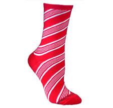 Candy Cane Christmas Socks