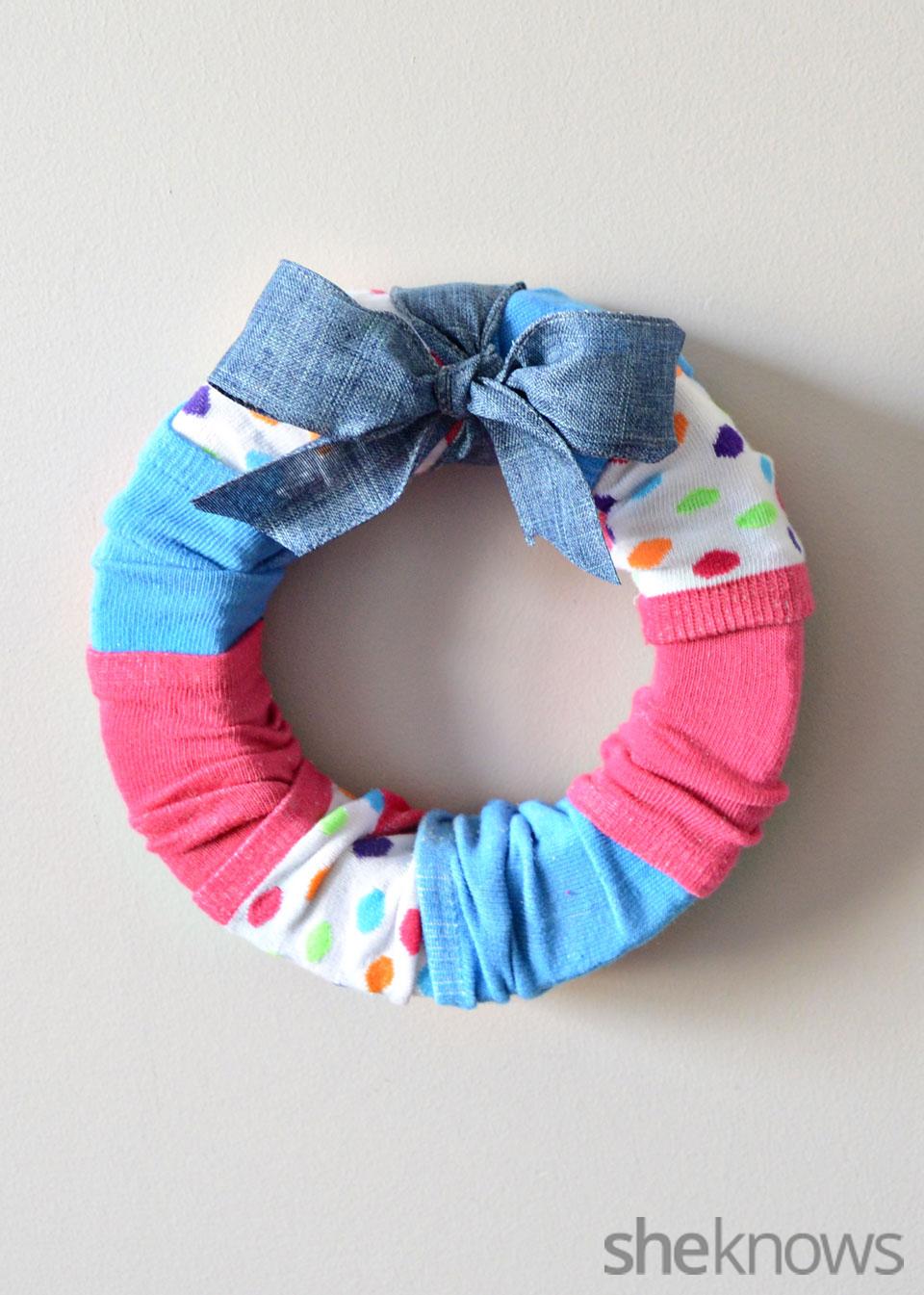 Dollar store sock wreath