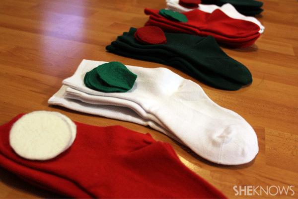 sock advent calendar