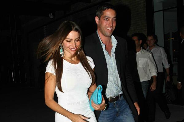 Sofia Vergara and Nick Loeb Leaving Dinner in NYC