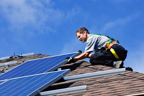 Instal solar energy panels