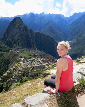 Woman at Machu Pichu