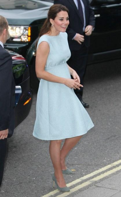Kate Middleton ice blue maternity dress