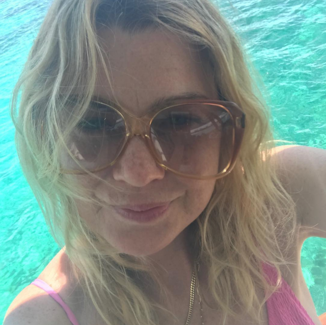 Photo of Ellen Pompeo on vacation