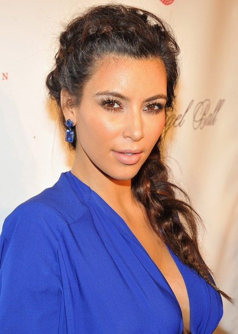 Best Celebrity French Braids: Kim Kardashian's Textured French Braid | Celeb Hairstyles 2017