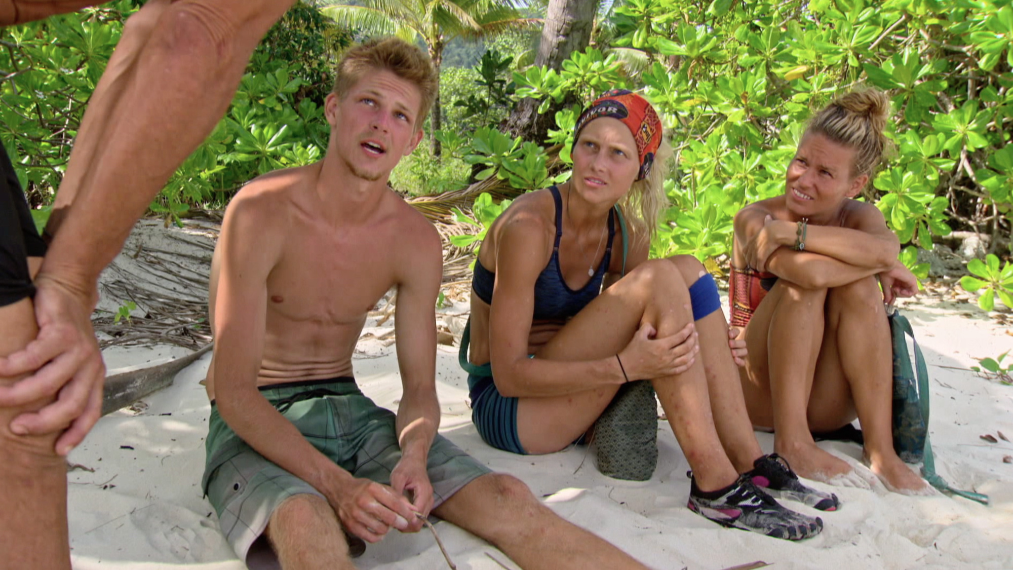 Spencer Bledsoe, Kelley Wentworth and Abi-Maria Gomes on Survivor: Second Chance