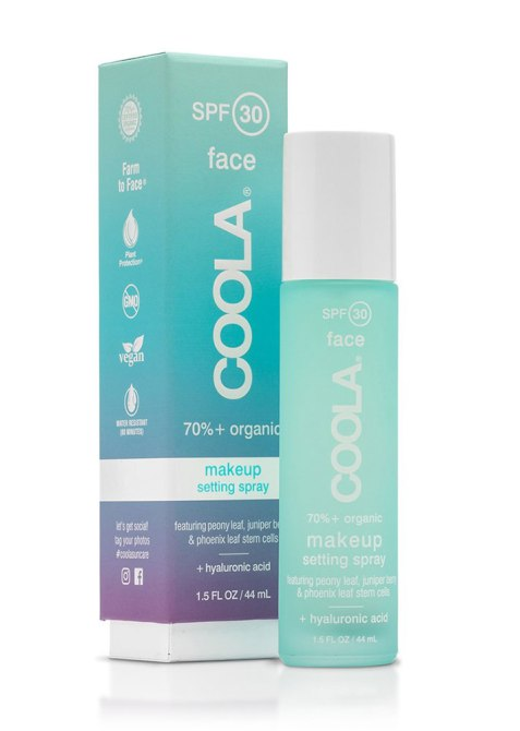SPF-Infused Setting Sprays and Powder: Coola Organic SPF 30 Makeup Setting Sunscreen Spray