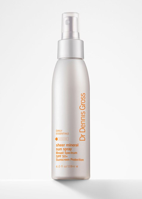 SPF-Infused Setting Sprays and Powder: Dr. Dennis Gross Skincare Sheer Mineral Sun Spray SPF 50