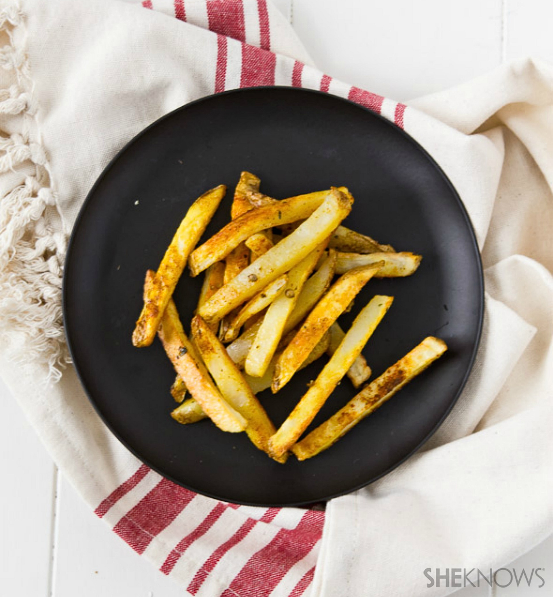 Indian-spiced fries