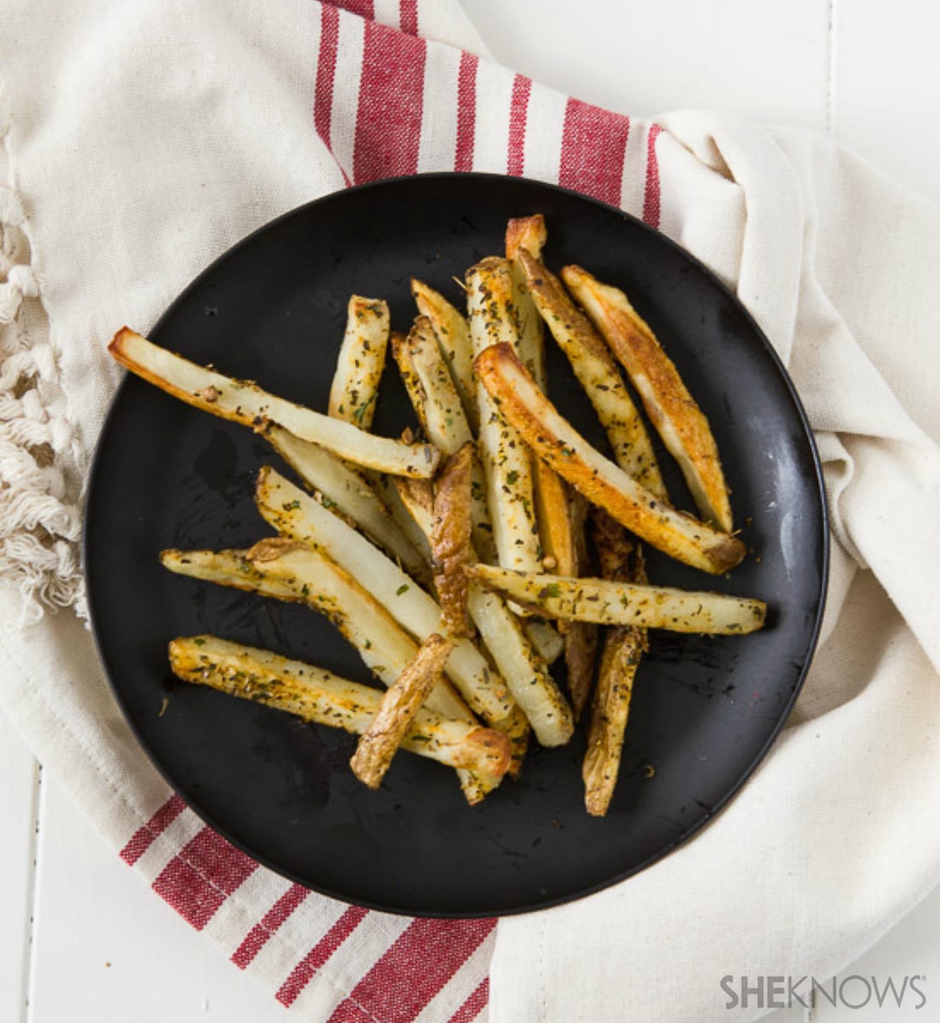 Italian-spiced fries