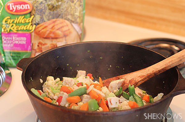 Spicy chicken and vegetable stir-fry | Sheknows.com - add chicken and vegetables