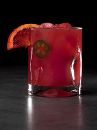 Peligroso Spicy Blood Orange Margarita