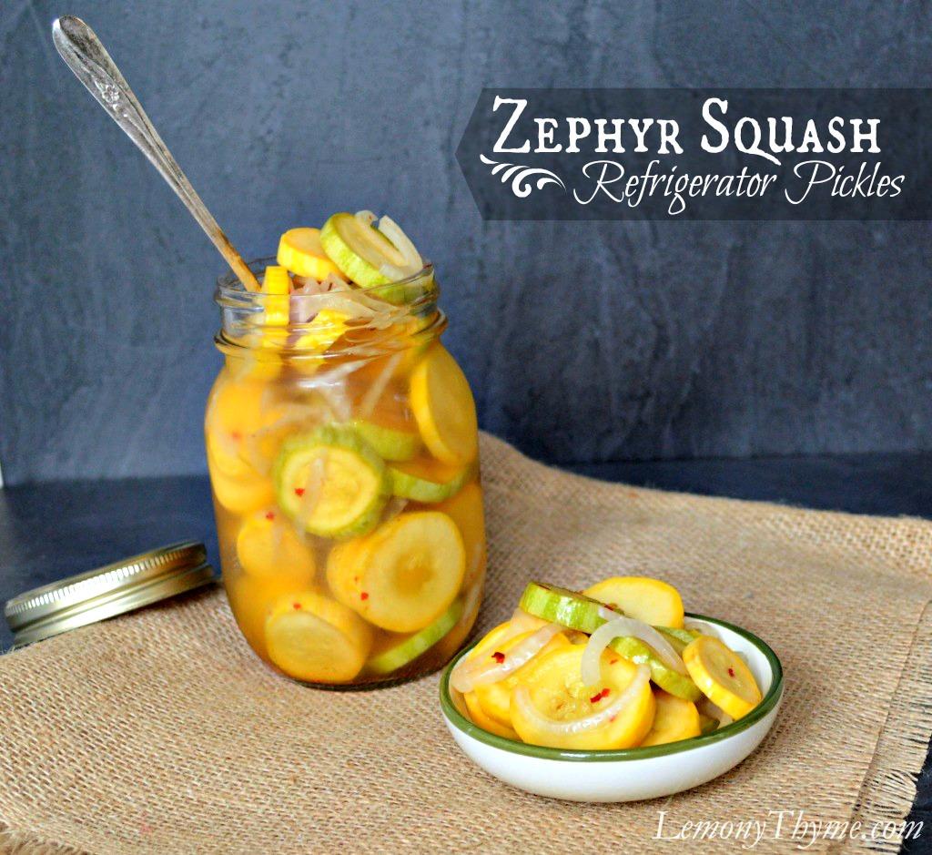 pickled summer squash