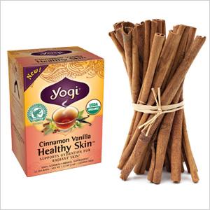 Yogi Cinnamon Vanilla Healthy Skin tea bags