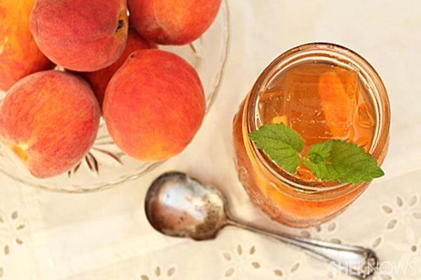 Spiked peach tea