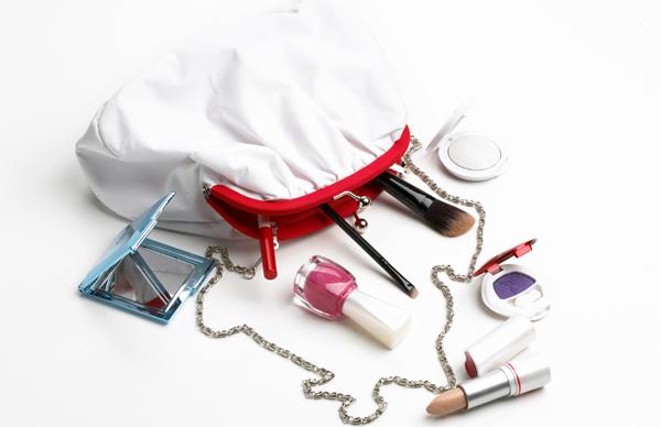 Spilled makeup bag