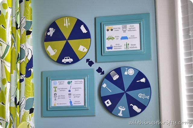 spinning DIY chore chart