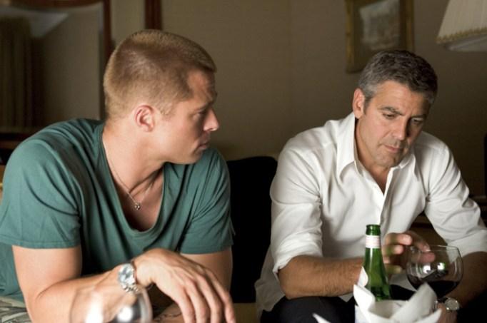 Brad Pitt and George Clooney in Ocean's Twelve
