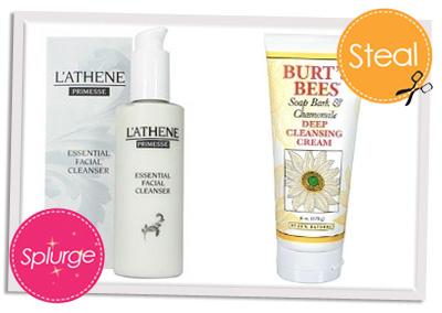 Splurge vs Steal face wash