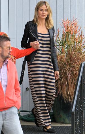 Heidi Klum in BCBGMAXAZARIA maxi dress
