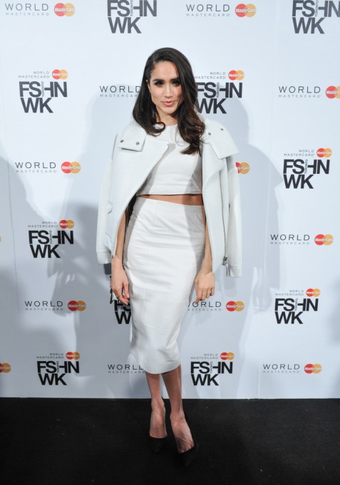 Meghan Markle's Most Fashionable Outfits | Attending the World MasterCard Fashion Week Fall 2015