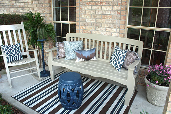 spray painted porch furniture