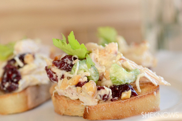 Dijon chicken salad crostini