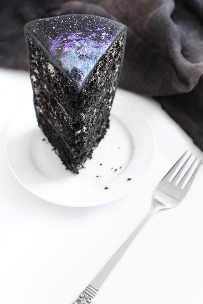 Sprinkle Bakes Black velvet nebula galaxy cake