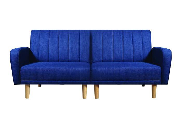 Scott Living Shaywood Fabric Sofa Bed in Blue