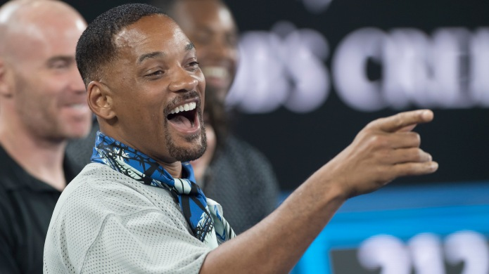 Will Smith reacts to Australian tennis