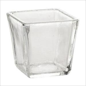 Square glass votives