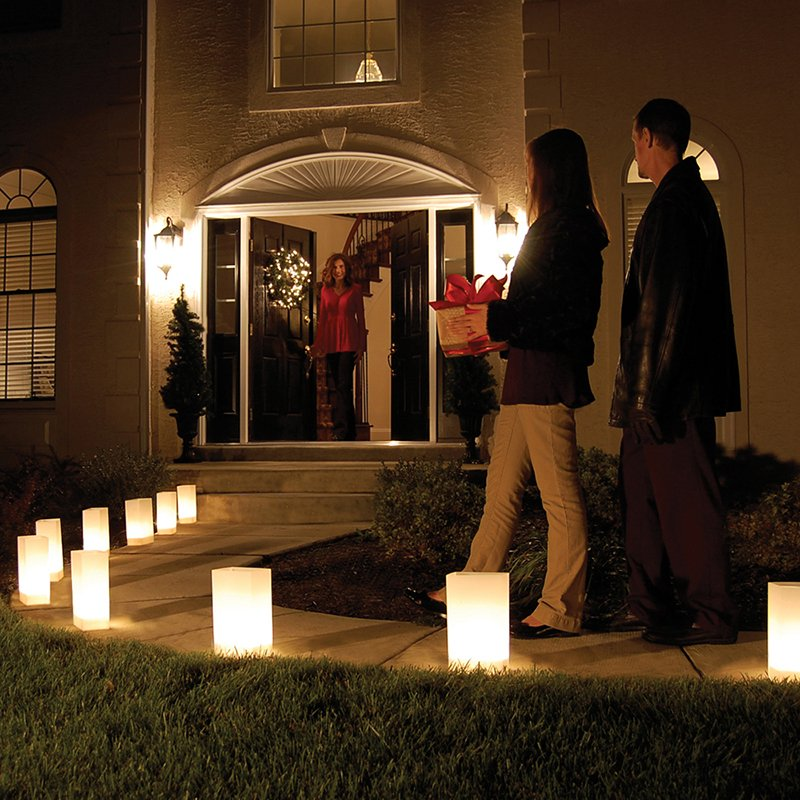 Glowing luminarias