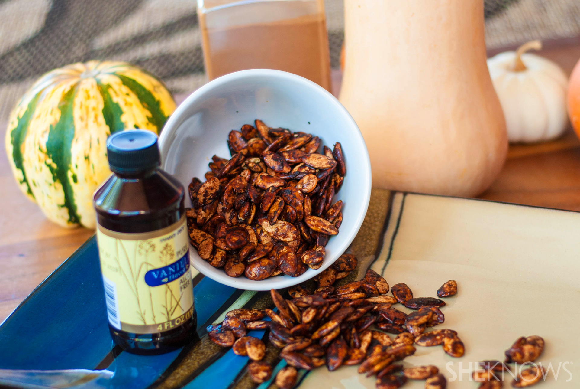 Cinnamon vanilla brown sugar roasted squash seeds recipe