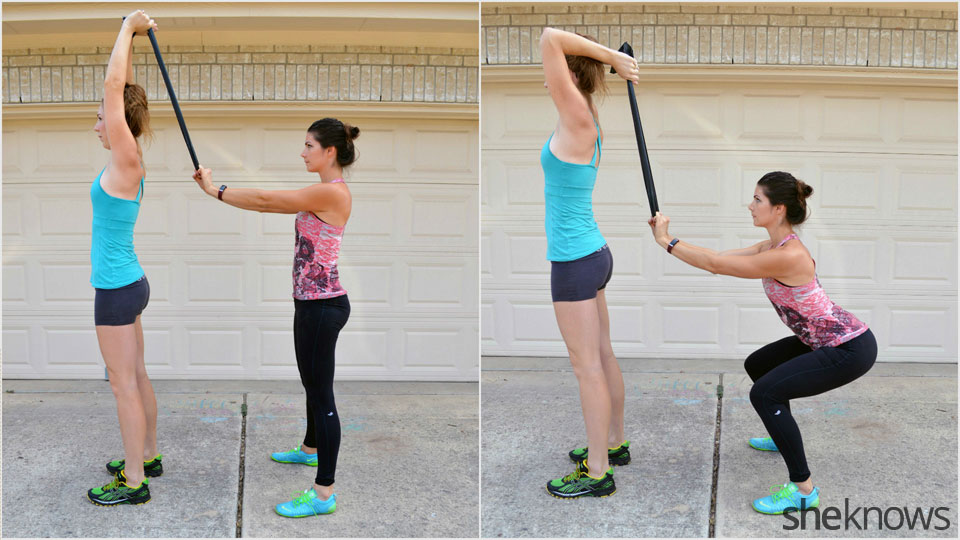 Squat and triceps extension