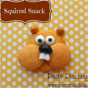 Squirrel cookie face snack | Sheknows.com