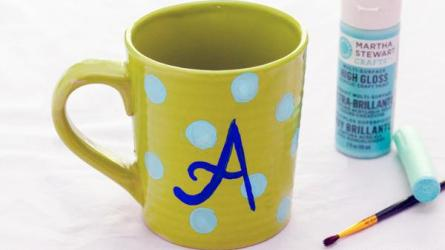 Homemade Mother's Day mug crafts
