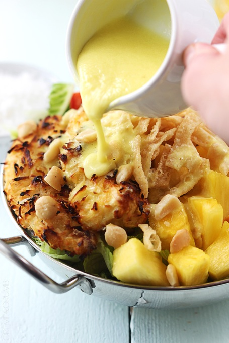 Piña colada chicken salad from Creme de la Crumb