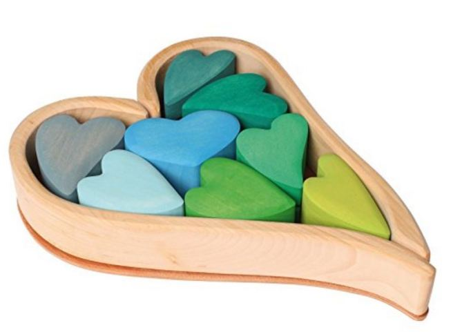 Gifts for Baby's First Valentine's Day: Heart-Shaped Blocks