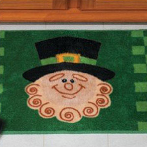 St. Patrick's day bath mat