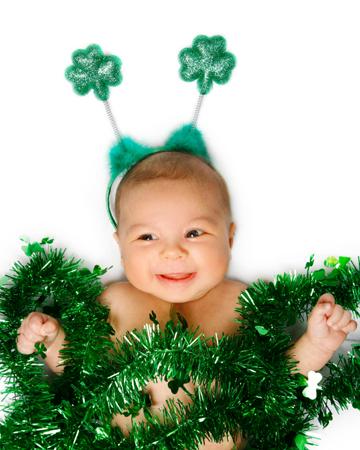 St. Patrick's Day baby