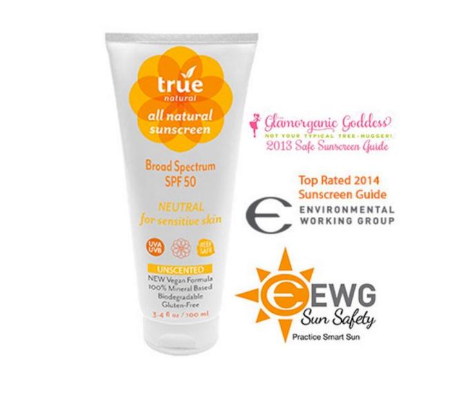 True Natural sunscreen