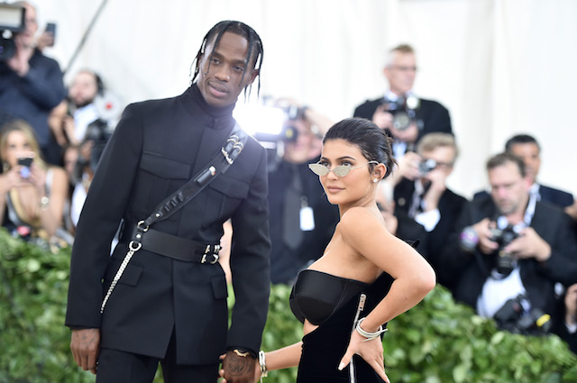 Travis Scott and Kylie Jenner attend the Heavenly Bodies: Fashion & The Catholic Imagination Costume Institute Gala