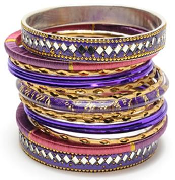 Stack of bangle bracelets