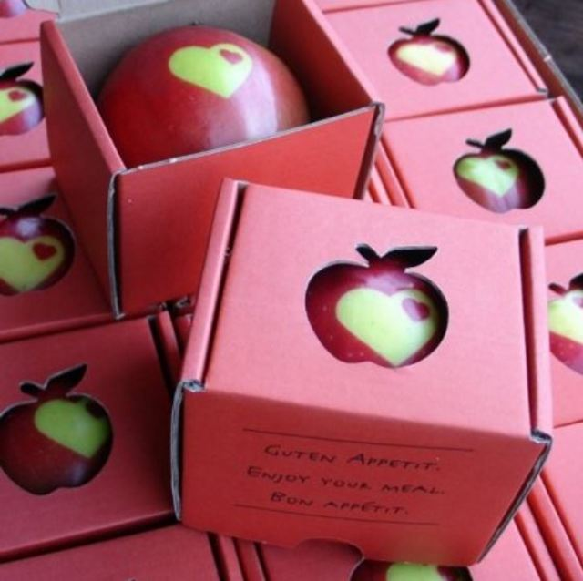 Stamped apples